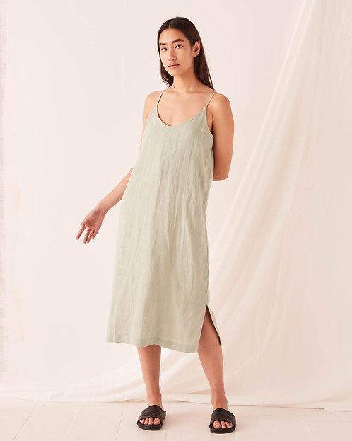 ASSEMBLY LABEL | Linen Slip Dress | Soft Green