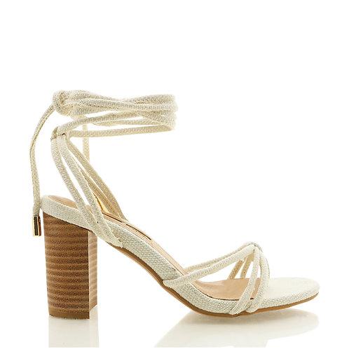 BILLINI | Ravine Heels | Beige Linen