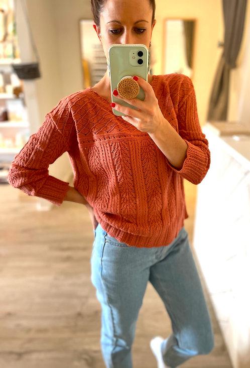 Harriet Knit Jumper | Rust