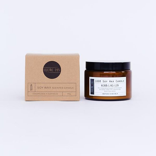 ELECTRIC EYES | Herbal Healer 100% Soy Wax Candle