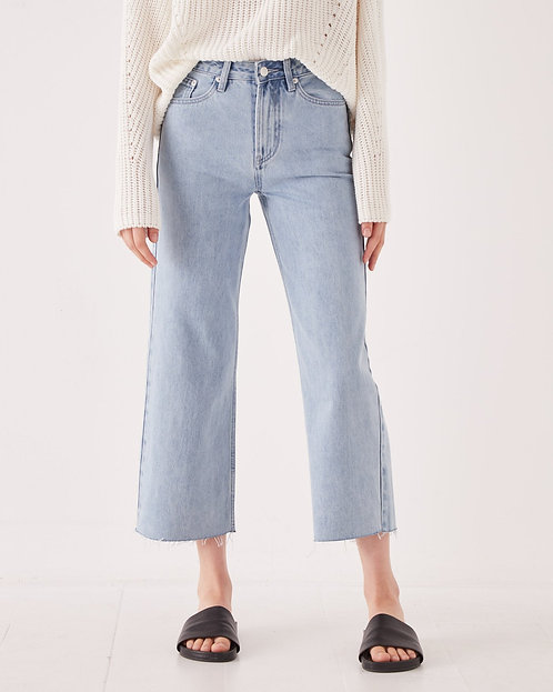 ASSEMBLY LABEL | High Waist Flare Jeans | Pacific Blue