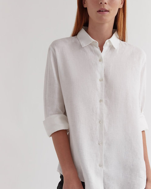ASSEMBLY LABEL | Xander Long Sleeve Shirt | White