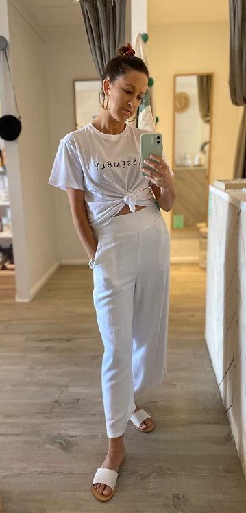Olivia Linen Culottes | White