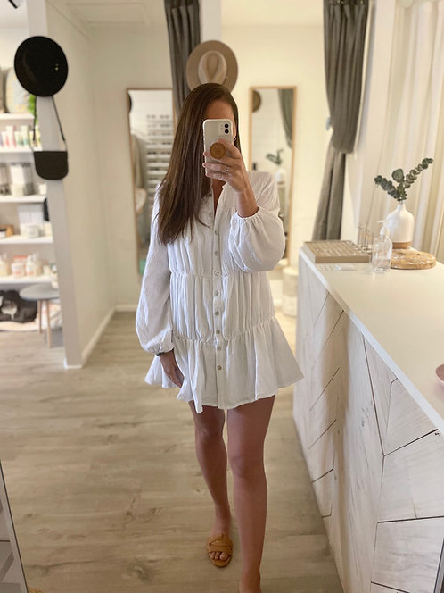 Macey Dress | White