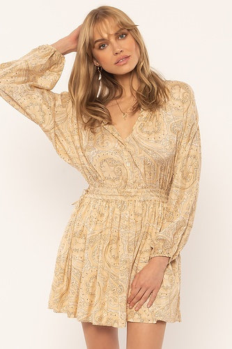 Luciana Woven Dress | Paisley