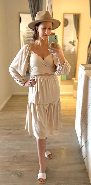 Alexis Midi Dress | Natural