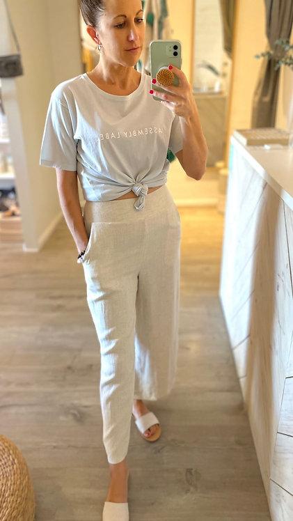 Olivia Linen Culottes | Natural