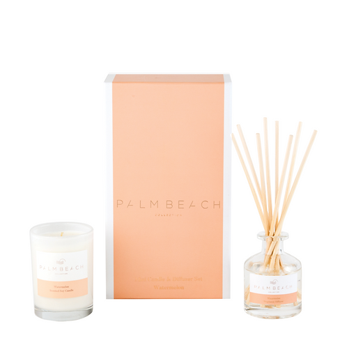 PALM BEACH COLLECTION | Mini Diffuser & Candle Gift Set | Watermelon