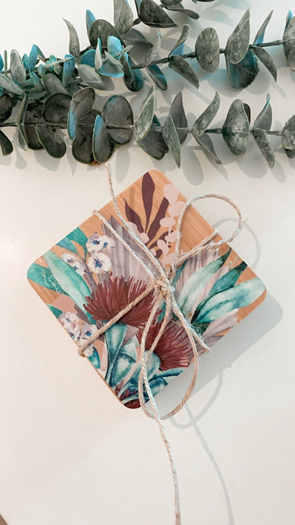 BAMBOO COASTERS | Plum Blossoms