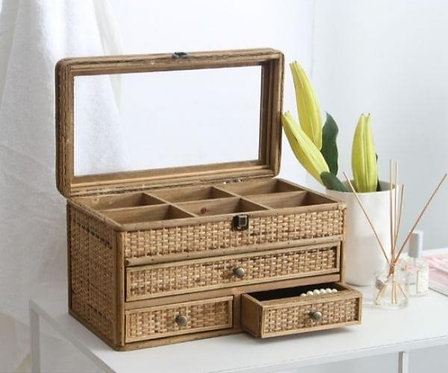 Natural Woven Jewellery Box