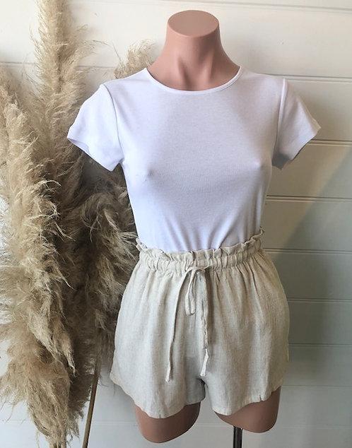 Elsie Linen Shorts | Natural