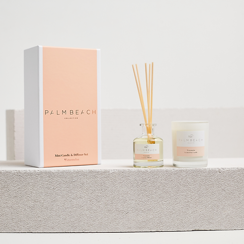 PALM BEACH COLLECTION | Mini Candle & Diffuser Gift Pack | Watermelon