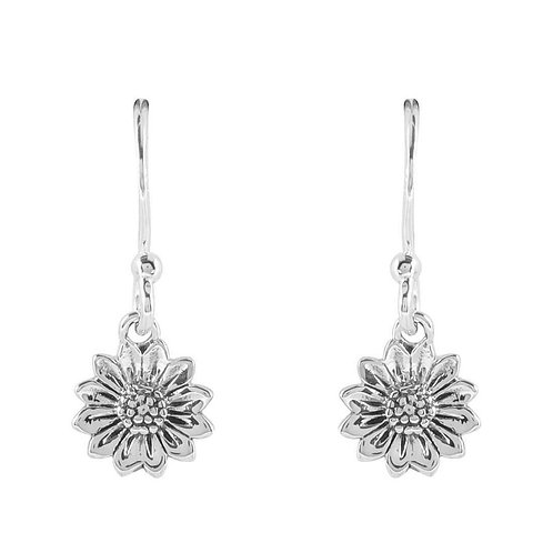 MIDSUMMER STAR | Tiny Delicate Sunflower Earrings | Sterling Silver