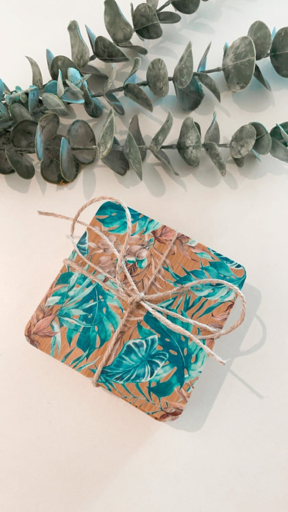 BAMBOO COASTERS | Turquoise Tranquility