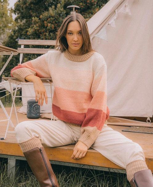 Candy Knit Sweater | Peach Multi