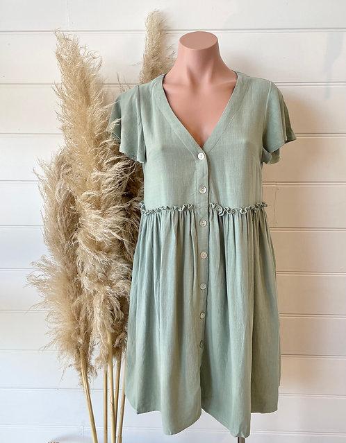 Hannah Dress | Sage