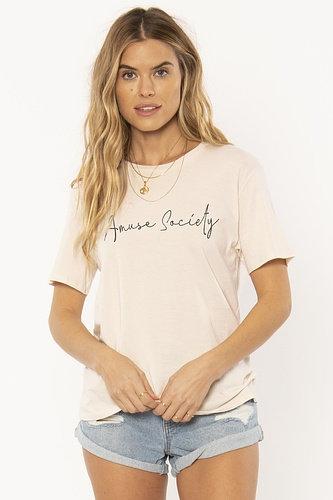 AMUSE SOCIETY | Script Tee | Pink