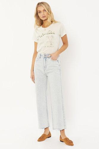 AMUSE SOCIETY   Gabi Crop Flare Jeans   Sunfade