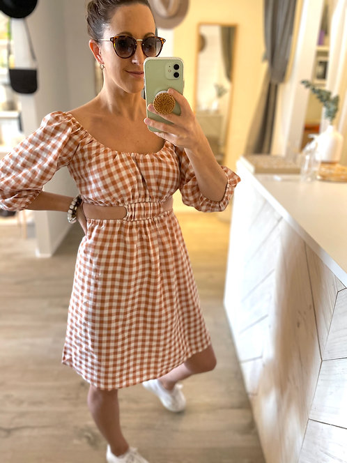 Shelby Dress | Chestnut Check
