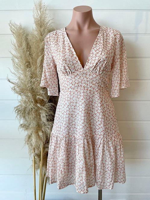 Poppy Dress | Peach Floral