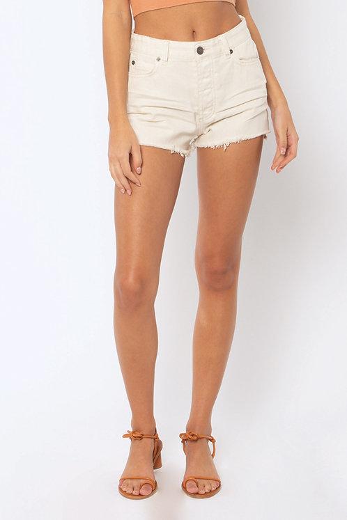 AMUSE SOCIETY | Shoreline Denim Shorts | White Cap