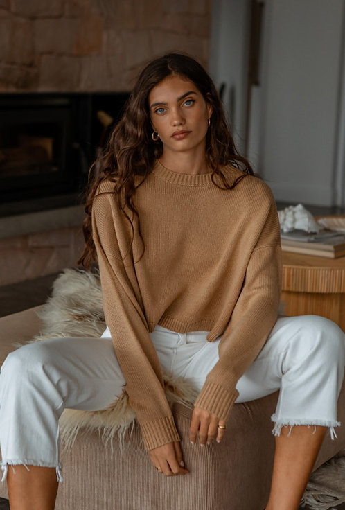 GIRL AND THE SUN | Emily Knit | Camel