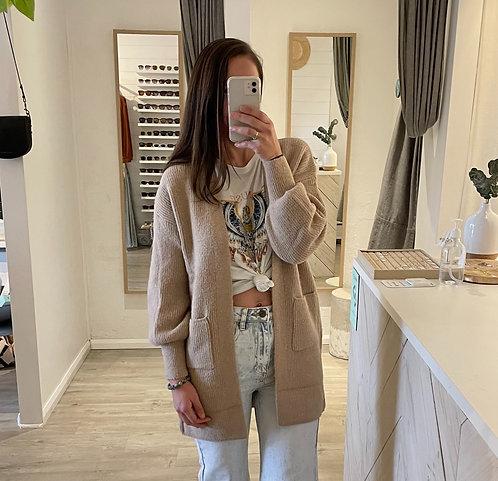 Chanel Wool Cardi | Mocha