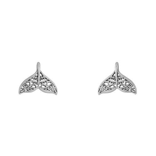 MIDSUMMER STAR | Mandala Dolphin Tail Studs