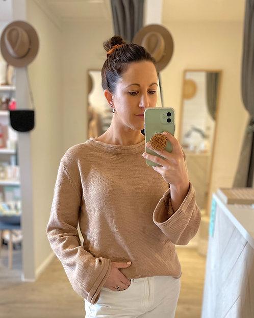 Peyton Knit Top | Rose Bisque