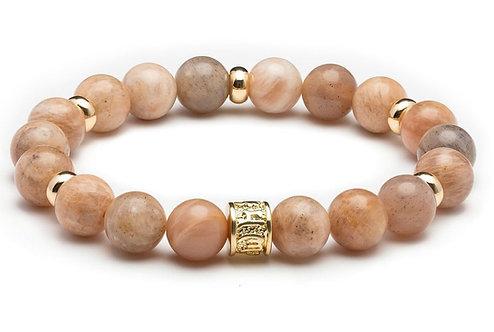 HEADLESS NATION   Sun Stone & Gold Bracelet