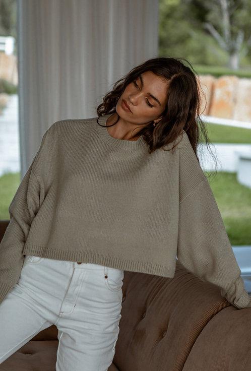 GIRL AND THE SUN   Emily Knit   Khaki