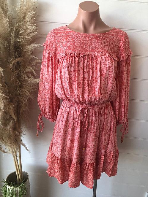 Indikah Dress | Pink Paisley