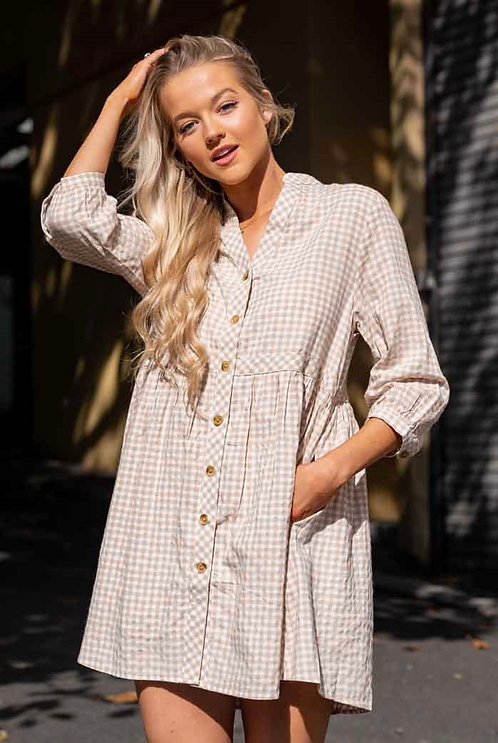 Dolly Dress | Natural Gingham