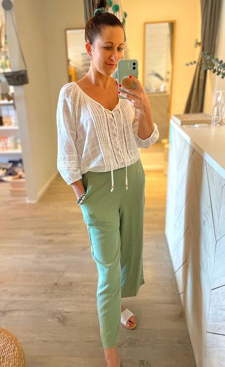 Olivia Linen Culottes | Khaki