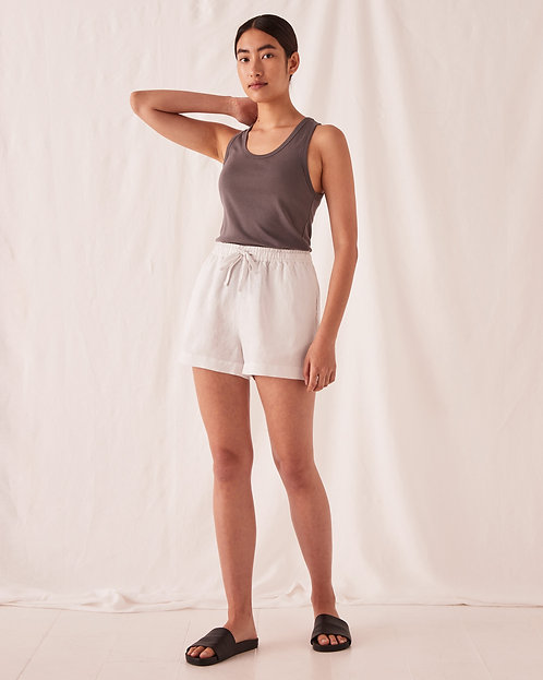 ASSEMBLY LABEL | Anika Linen Shorts | Silver Grey