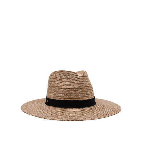 ACE OF SOMETHING | Rhea Natural and Black Fedora