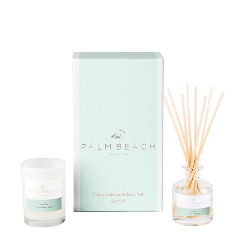 PALM BEACH COLLECTION | Mini Diffuser & Candle Gift Set | Sea Salt