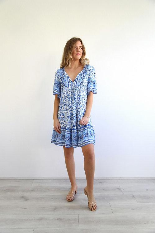 The Norah Dress | Blue Floral