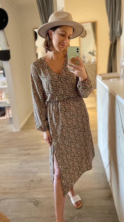 Felicity Dress | Olive Floral