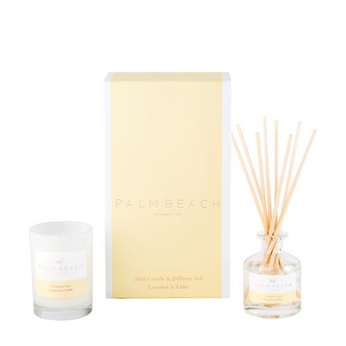 PALM BEACH COLLECTION | Mini Candle & Diffuser Gift Pack | Coconut & Lime
