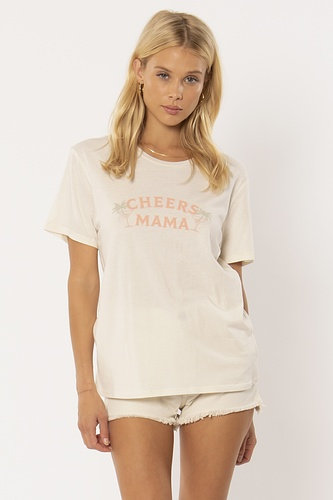 AMUSE SOCIETY | Cheers Mama Tee | White