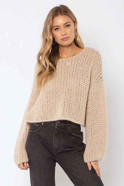 AMUSE SOCIETY | Desert Skies Knit Sweater | Linen