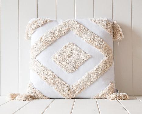 Arcadia Cushion | Natural on White