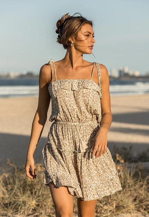 GIRL & THE SUN | Mini Dawn Dress | Leopard