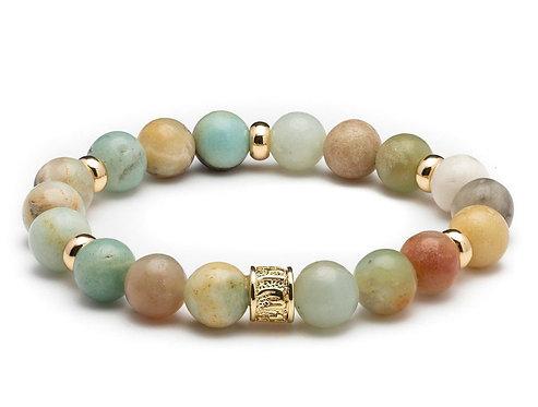 HEADLESS NATION | Amazonite & Gold Bracelet