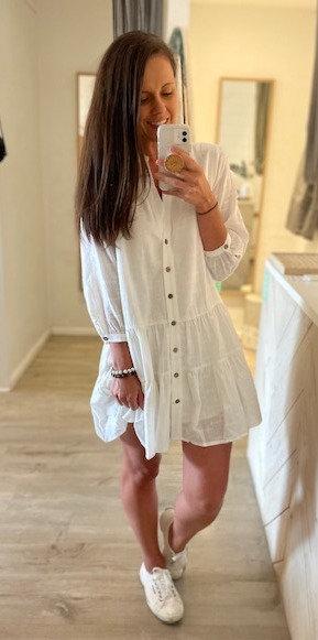 Noosa Dress   White