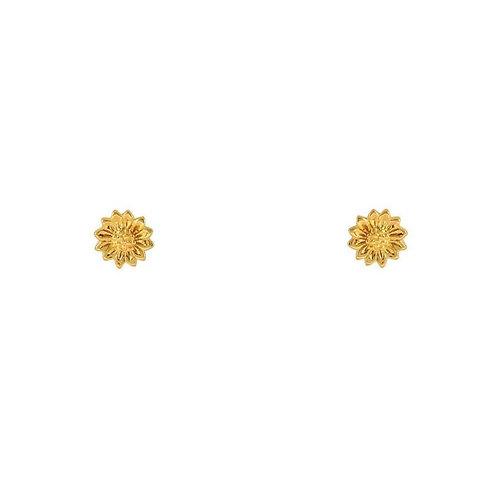 MISUMMER STAR | Gold Tiny Sunflower Studs