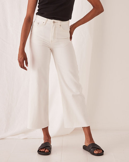 ASSEMBLY LABEL | High Waist Flare Jean | Vintage White