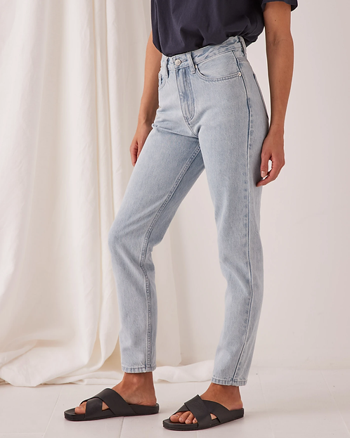 ASSEMBLY LABEL | High Waisted Rigid Jean | Pacific Blue