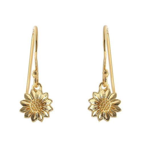 MIDSUMMER STAR | Gold Tiny Delicate Sunflower Earrings